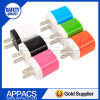 Smart technology 5v 1a colorful travel wall usb charger buy from China