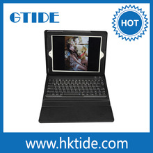 ultra-thin keyboard stand for ipad leather case cover with bluetooth keyboard