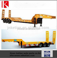 lowbed Semi Trailer 2 or 3 axles for hot sale high quality
