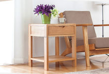 Newest hot sell black mirror furniture wooden nightstand