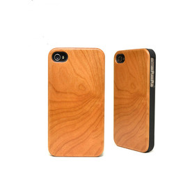Textured cherry Wood Skin For iPhone 4 4s Decal Sticker Wrap Protector Cover Case