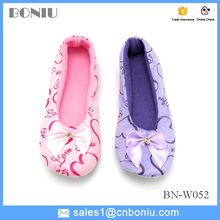bow casual warm home shoes for lady