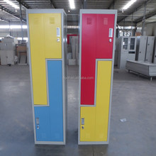 Factory Price Cheap Staff Changing Room Clothes Steel Z Shape Locker
