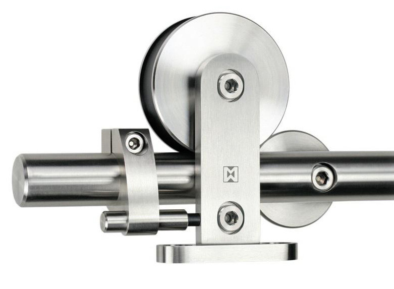 Guangzhou rvs schuifdeur roller deur wiel glazen deur for Rvs ladenblok op wielen