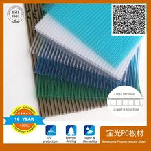 100% new VIRGIN material pc hollow sheet for Agriculture Greenhouse