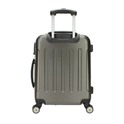 Favorable price PC four wheels trolley luggage, Pupular style hard case luggage ABS trolley suitcase