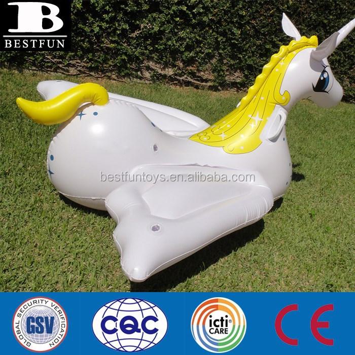 Water Toys For Grown Ups : Large inflatable unicorn pegasus blown up pool lake float