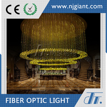 Plastic Optial Fiber led fiber optic chandelier storefront led lights with crystal balls pmma decoration