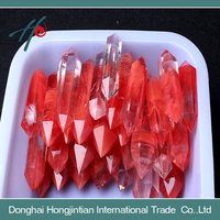 red melting quartz crystal points