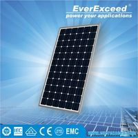 EverExceed Reliable quality 150w 156*156mm Monocrystalline Solar Panel made of Grade A solar cell with 5 years warranty