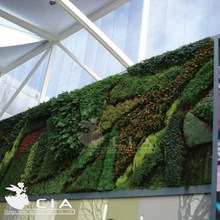 Artificial living wall system plastic plants wall system outdoor use