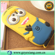 Factory Price 3D Rubber Cell Phone Silicone Case For Samsung Galaxy S6 Minion