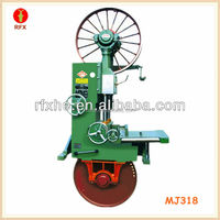 MJ318 vertical table sawing machine lumber sawing band saw from china machinery