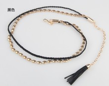 TOP SALE Unisex Fashion Plain Color 100% woven Fabric Belts