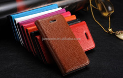 2015 Top quality simple style genuine Leather case for Apple iPhone 5c mini