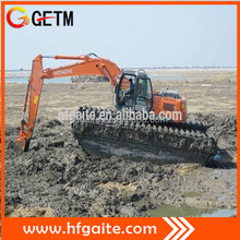 Heavy construction machinery amphibious excavator