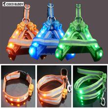 Super Safety Pet Dog Flashing LED Harness , LED Flashing Pet Dog Collar , Pet Leash