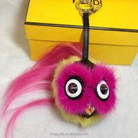 toy keychain,new products 2015 style cute plush fox fur pompon furfur bag
