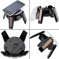 Brand New Black Solar Rotating Display Stand Turn Table for Jewelry Watch Cellphone Retail