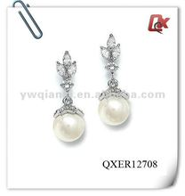 pearl earing designs (QXER12708)