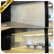 smart glass office partitions , smart film magic glass internet control/ knob switch control EB GLASS BRAND
