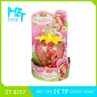 Hot B/O strawberry girl music and light lantern magic hand lamp toysZT8757