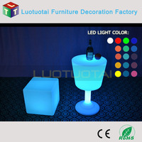 PE plastic (NOT ACRYLIC) LED table party bar furniture coffee table cocktail table LTT-BS01B
