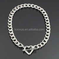 Heart Charm Fashion Toggle Link Chain Necklace