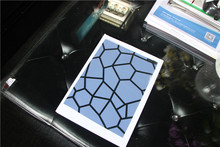 Transparent blue film for glass table