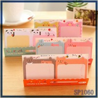 YIWU ODM stationery manufacturer very cheap animal shaped sticky notes cute bank note paper