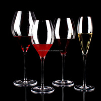 high quality crystal red wine glass sets with long stem/crystal glass dinner set