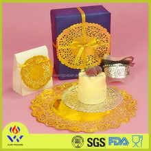 Factory cheaper price gold foil paper doilies lace paper placemats