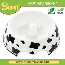 Fancy melamine dog travel bowl