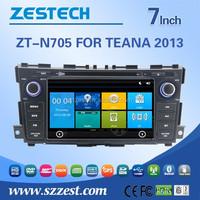 Hot sale double din car gps dvd for Nissan TEANA 2013 with GPS/BT/3G/WiFI/Radio