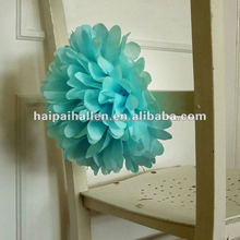 Fashionable hanging paper pom poms for chair decoration