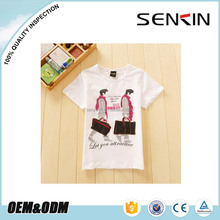 2015 New design Comfortable Children Plain White T shirt Custom your own Logo Printed T shirt For Sale OEM