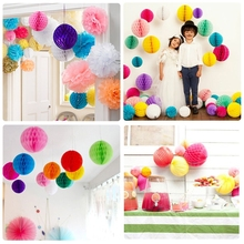 DIY Tissue Paper Honeycomb Balls 4''(10cm) for Wedding Party Party Event Decoration 12 colors festival celebration flower ball