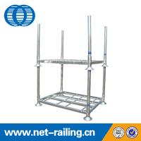 Detachable steel storage double pallet stack