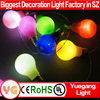 CE RoHS factory selling plastic led round bulb string light/ led christmas bulb string light/led string light for outdoor used