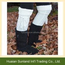 W-603 warm women cable knit thigh high boot socks for winter long boot stocking