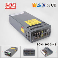 SCN-1000-48 high industrial output voltage power suply smps 1000w 48v ac to dc power supply