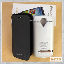 3000mah for samsung galaxy leather flip case for samsung galaxy s4 mini battery case