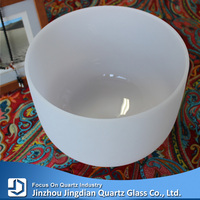 """12""""frosted quartz chakra singing bowl for sound healing"""