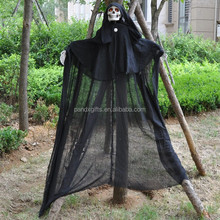 2014 NEW STYLE HALLOWEEN DECORATION HANGING GHOST WIHT RED LED EYES AND SOUND