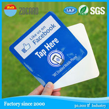 Best selling ISO HF adhesive 13.56mhz rfid paper tag