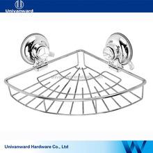Suction cup decorative bathroom accessory bath hanging wire basket