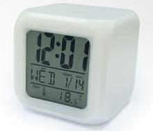 Factory price color change flip alarm clock, auto flip clock
