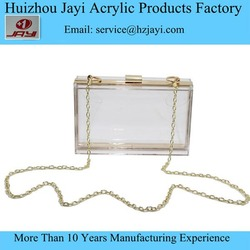 Clear Acrylic lucite Perspex fancy fashion design clutch plastic girl purse
