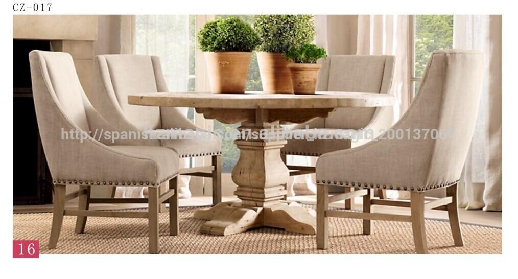 Nuevo dise o de madera antigua franc s baratos mesa for Mesa redonda diseno madera