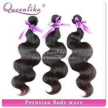 Wholesale human hair factory supplier natural body wave 100% human peruvian virgin hair